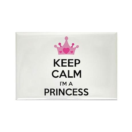 Keep calm I'm a princess Rectangle Magnet (100 pac