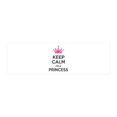 Keep calm I'm a princess 21x7 Wall Peel
