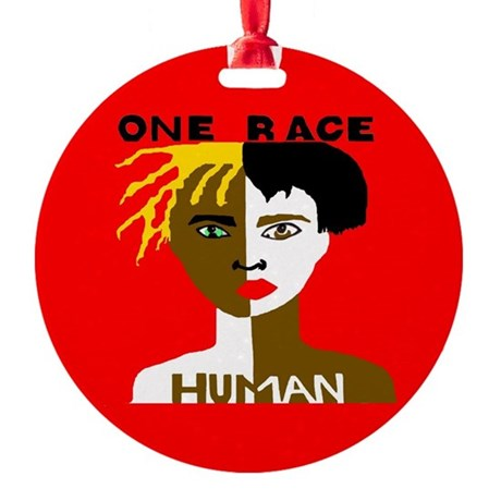 Anti-Racism Ornament (Round)