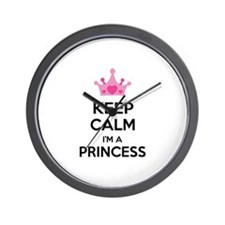 Keep calm I'm a princess Wall Clock