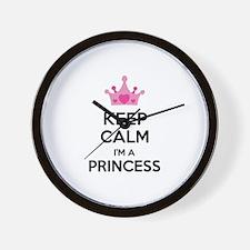 Keep calm I'm a princess Wall Clock