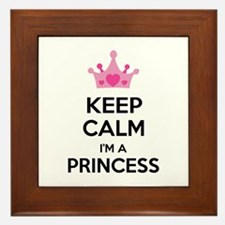 Keep calm I'm a princess Framed Tile