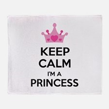 Keep calm I'm a princess Throw Blanket