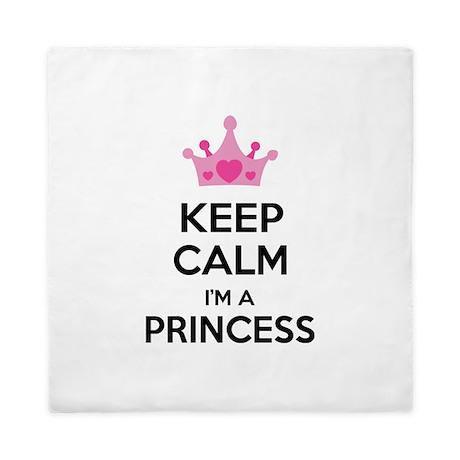 Keep calm I'm a princess Queen Duvet