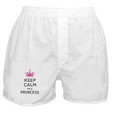 Keep calm I'm a princess Boxer Shorts