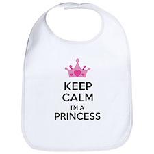 Keep calm I'm a princess Bib