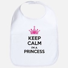 Keep calm I'm a princess Bib