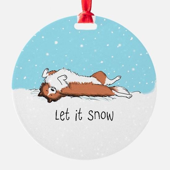 Let It Snow Sheltie Ornament