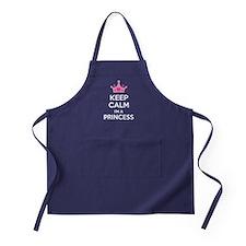 Keep calm I'm a princess Apron (dark)