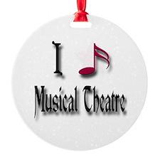 Love Musical Theatre Ornament (Round)
