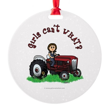 Light Red Farmer Ornament (Round)