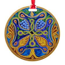 Armenian Tree of Life Cross Ornament (Round)