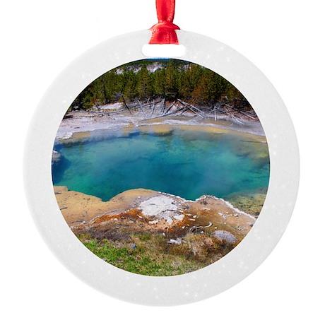 Emerdald Hot Springs Ornament (Round)