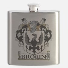 Brown Coat of Arms Flask