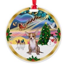 Xmas Magic - Chihauhua (#1) Ornament (Round)