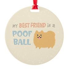 Pomeranian Poof Ball Ornament/Keepsake