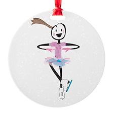 i spin, i jump Ice Skating Ornament (Round)
