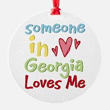Someone in Georgia Loves Me Ornament (Round)