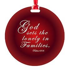 Adoption Christmas Ornament (Round)