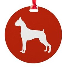 Boxer Ornament (Round)