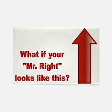 Mister Right Rectangle Magnet