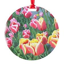 Dutch Spring Tulips Ornament (Round)