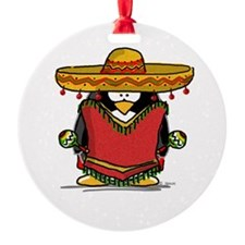 Fiesta Penguin Ornament (Round)