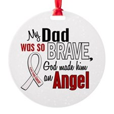 Angel 1 DAD Lung Cancer Ornament (Round)