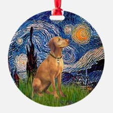 Starry Night Vizsla Ornament (Round)