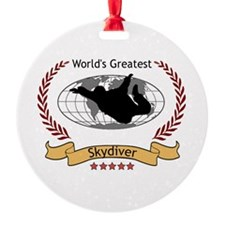 World's Greatest Skydiver Ornament (Round)