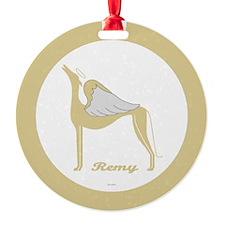REMY ANGEL GREY ROUND ORNAMENT