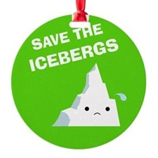 Save the Icebergs Ornament (Round)