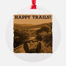 Happy Trails. Horse Ornament (Round)