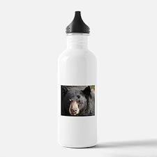 Black Bear Face Water Bottle