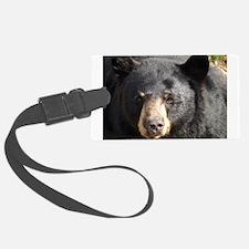 Black Bear Face Luggage Tag