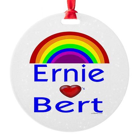 Ernie (hearts) Bert Ornament (Round)