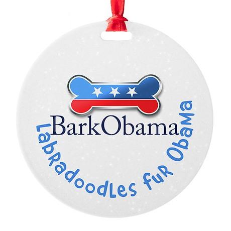 Labradoodles fur Obama Ornament (Round)
