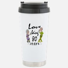 Love Being 80 Couple Stainless Steel Travel Mug