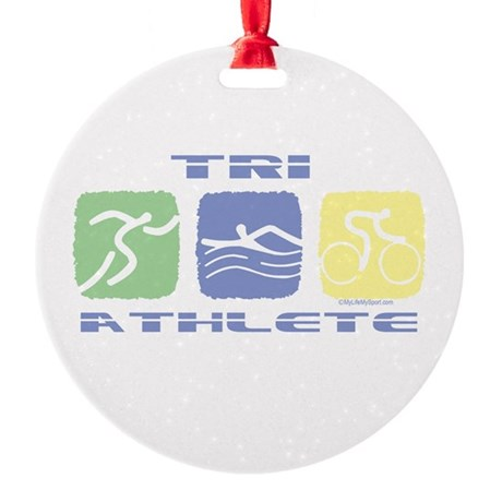 TRI ATHLETE Ornament (Round)
