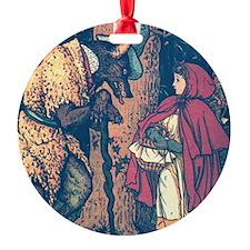 Crane's Red Riding Hood Ornament (Round)