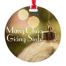 Vietnamese Merry Christmas Ornament (Round)