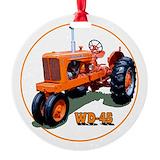 Allis chalmers tractor Round Ornament