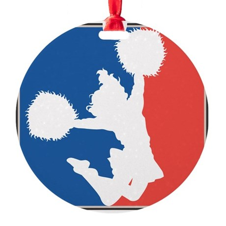 CHEER *11* {red/white/blue} Ornament (Round)