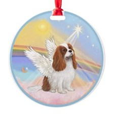 Clouds - Blenheim Cavalier Angel Ornament (Round)