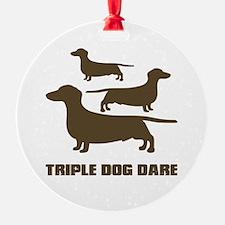 triple dog dare christmas story Ornament (Round)