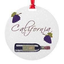 California Wine Ornament (Round)