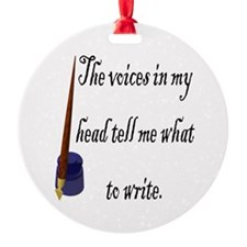 Writing Voices Ornament (Round)
