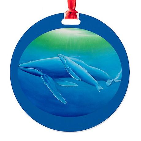 Whale Ornament (Round)