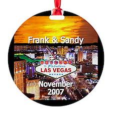 Frank & Sandy Las Vegas Ornament (Round)
