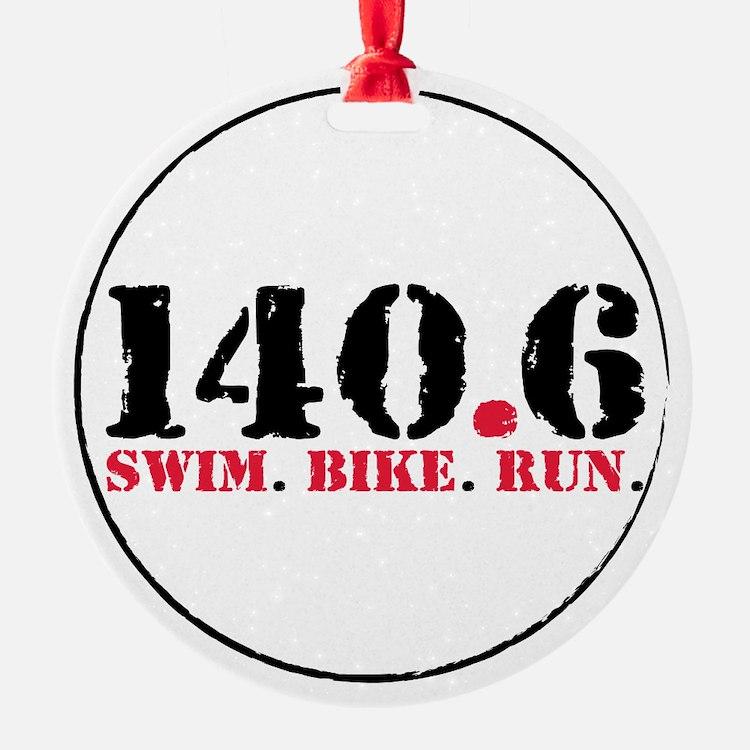 140.6 Swim Bike Run Ornament (Round)